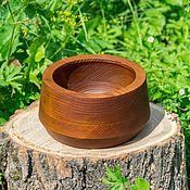 Для дома и интерьера handmade. Livemaster - original item Deep dish wood Siberian Pine 175#27. Handmade.
