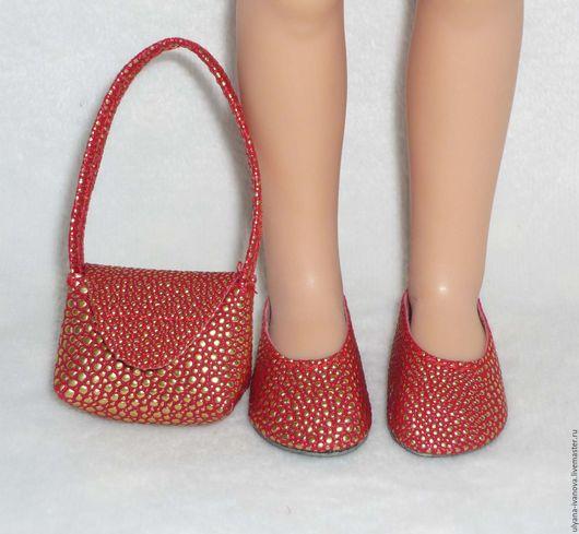 Одежда для кукол ручной работы. Ярмарка Мастеров - ручная работа. Купить Комплект для Paola Reina: сандалии/туфли и сумочка. Handmade.