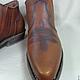 """Обувь ручной работы. Мужские ботинки """"казаки!. Мамылова Лариса. Ярмарка Мастеров. Мужские туфли, натуральная кожа"""