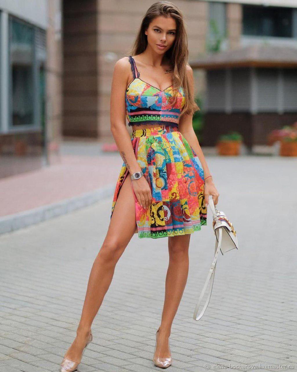 Шелковый женский костюм, Костюмы, Москва, Фото №1