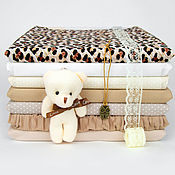Материалы для творчества handmade. Livemaster - original item Materials for dolls and toys: Set of fabrics for needlework NT-08. Handmade.
