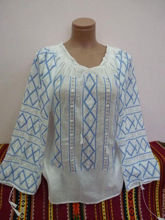 Блузки ручной работы. Ярмарка Мастеров - ручная работа. Купить Блузочка. Handmade. Синий, блузка летняя, вышиванка женская, блузки