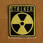 """Субкультуры ручной работы. Ярмарка Мастеров - ручная работа нашивка Сталкер - """"Нейтральные сталкеры"""" (прямоугольник STALKER). Handmade."""