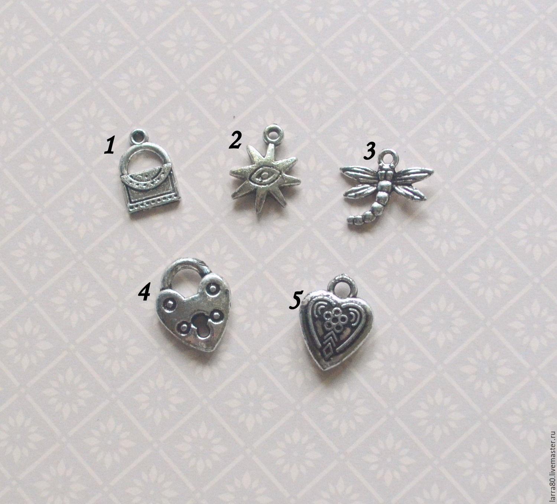 Набор подвесок 14 античное серебро, Элементы, Ярославль, Фото №1