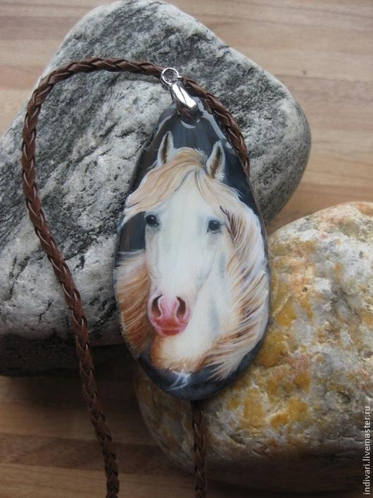"""Кулоны, подвески ручной работы. Ярмарка Мастеров - ручная работа. Купить """"Просто милая лошадь..."""". Handmade. Серый"""