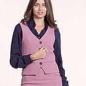 Одежда ручной работы. Ярмарка Мастеров - ручная работа 131: короткий жилет, офисный жилет, женский  жилет. Handmade.
