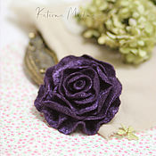 Украшения handmade. Livemaster - original item Felt Brooch-Blueberry Rose. Handmade.