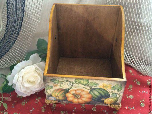 """Кухня ручной работы. Ярмарка Мастеров - ручная работа. Купить Короб для специй """"Тыквы"""". Handmade. Комбинированный, коробка для мелочей, Декупаж"""