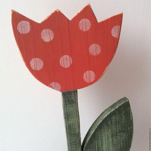 Статуэтки ручной работы. Ярмарка Мастеров - ручная работа. Купить Тюльпан интерьерный, деревянный. Handmade. Цветок ручной работы