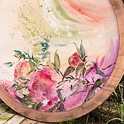 Картины и панно ручной работы. Ярмарка Мастеров - ручная работа Президиум жениха и невесты. Оформление батик-панно для свадьбы. Handmade.