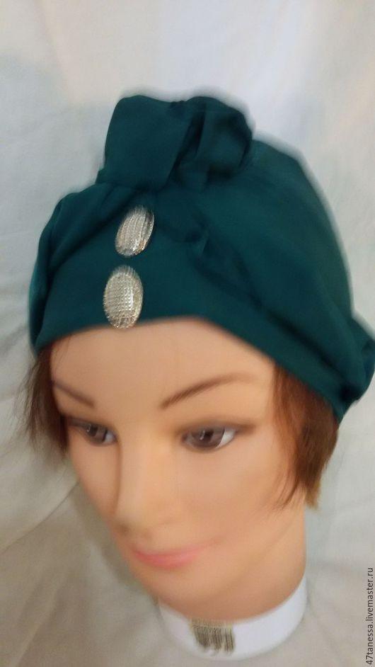 """Шляпы ручной работы. Ярмарка Мастеров - ручная работа. Купить Чалма """"сосновый запах"""" Авторский стиль . Изготовлена из эластичного си. Handmade."""