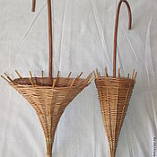 Материалы для творчества handmade. Livemaster - original item Umbrella for decorating, woven from vines. Handmade.