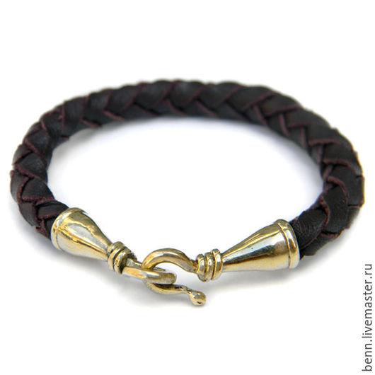 Браслеты ручной работы. Ярмарка Мастеров - ручная работа. Купить Браслет кожаный коричневый (1) Кожаный браслет мужской Женский браслет. Handmade.