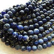Материалы для творчества handmade. Livemaster - original item Natural sodalite faceted bead 10 (art. 2078-10). Handmade.