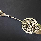 Cеребряная лопатка для торта немецкого дизайна «Хильдесхаймская роза»,