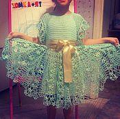 Работы для детей, ручной работы. Ярмарка Мастеров - ручная работа Платье бирюзовое. Handmade.