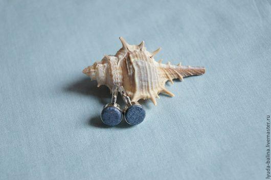 """Серьги ручной работы. Ярмарка Мастеров - ручная работа. Купить Серьги с синим кораллом """"Акори"""". Handmade. Голубой, серьги, для женщины"""