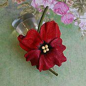 Кольца ручной работы. Ярмарка Мастеров - ручная работа Кольцо Анютка красная вишня. Handmade.