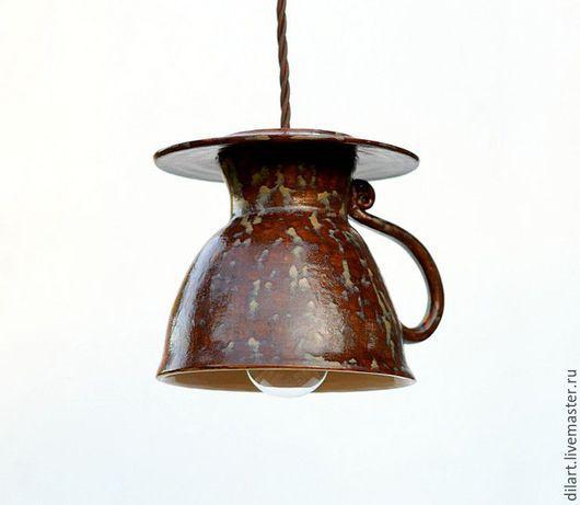 Освещение ручной работы. Ярмарка Мастеров - ручная работа. Купить Светильник керамический люстра для кухни ручной работы Чайная Чашка. Handmade.