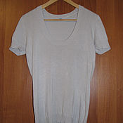 Винтаж handmade. Livemaster - original item Vintage clothing: Knitted gray sweater with short sleeves. Handmade.