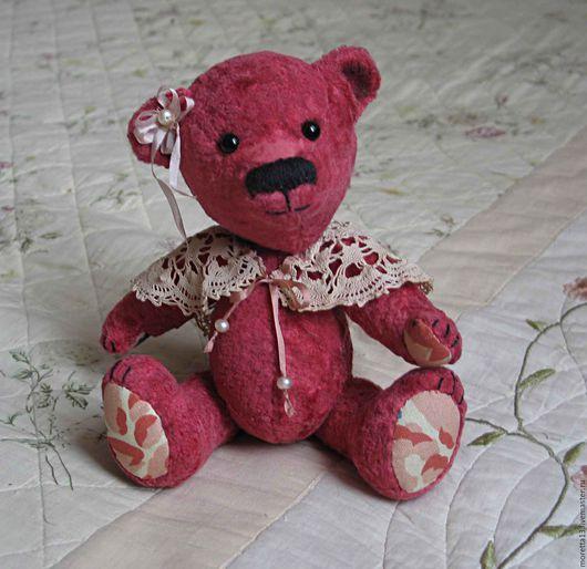 Мишки Тедди ручной работы. Ярмарка Мастеров - ручная работа. Купить Розалия. Handmade. Фуксия, Плюшевый мишка, кружево