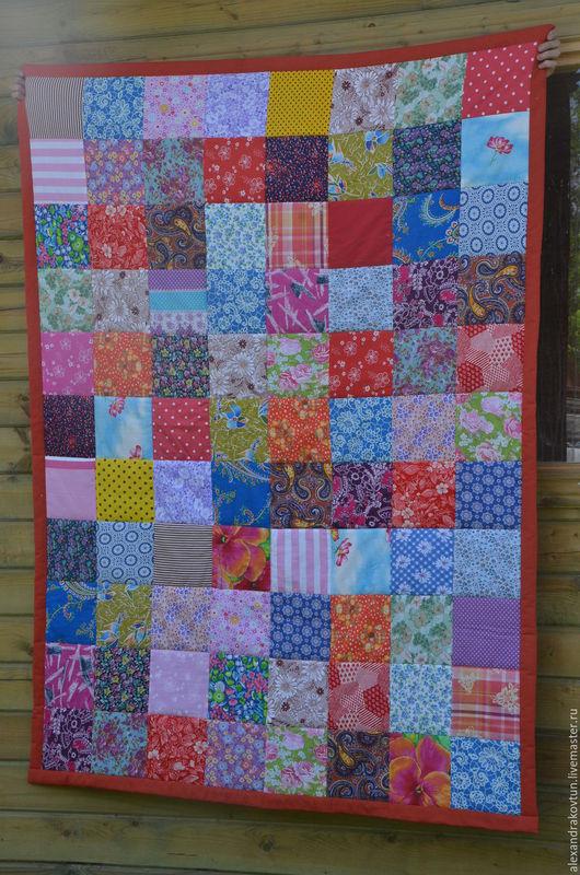 """Текстиль, ковры ручной работы. Ярмарка Мастеров - ручная работа. Купить Лоскутное покрывало """"Дачное2"""". Handmade. Комбинированный, лоскутное покрывало"""