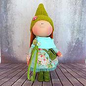 """Куклы и игрушки ручной работы. Ярмарка Мастеров - ручная работа Текстильная интерьерная кукла """"Первая зелень"""". Handmade."""