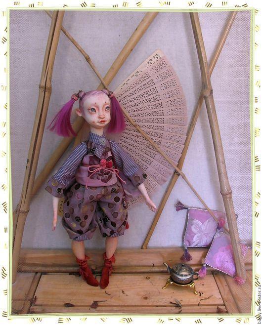 Коллекционные куклы ручной работы. Ярмарка Мастеров - ручная работа. Купить Тиен в частной коллекции. Handmade. Фиолетовый, art doll