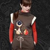 Одежда handmade. Livemaster - original item Warm Cat dress. Handmade.