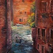 Картины и панно ручной работы. Ярмарка Мастеров - ручная работа Картина маслом Каналы Венеции. Handmade.