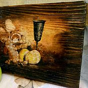 Картины и панно handmade. Livemaster - original item Murals of Fruit wine. Handmade.