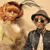 Куклы и игрушки ручной работы. Ярмарка Мастеров - ручная работа Каркасные куклы лиса Алиса и кот Базилио. Handmade.