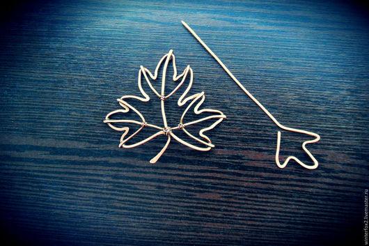 Броши ручной работы. Ярмарка Мастеров - ручная работа. Купить Канада. Handmade. Медь, брошь, лист, кленовый лист, хендмейд
