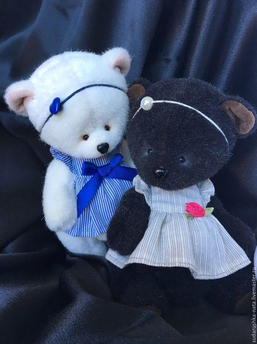 Мишки Тедди ручной работы. Ярмарка Мастеров - ручная работа. Купить Black&White. Handmade. Чёрно-белый, черный, teddy