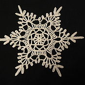 Подарки к праздникам handmade. Livemaster - original item Christmas tree ornament Snowflake. Handmade.