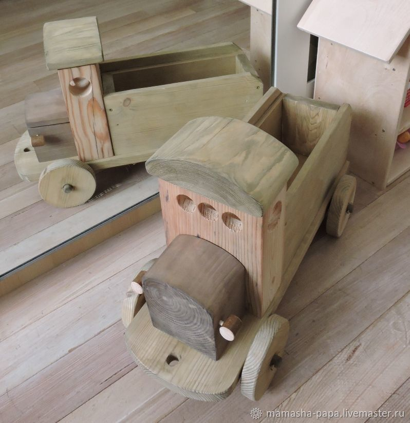 Деревянный автомобиль в стиле 30-х годов, Техника роботы транспорт, Москва,  Фото №1