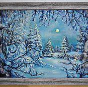 Картины и панно ручной работы. Ярмарка Мастеров - ручная работа Ночь перед Рождеством. Handmade.