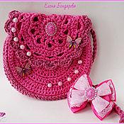 Сумки ручной работы. Ярмарка Мастеров - ручная работа Сумочка розовая и бантик. Handmade.