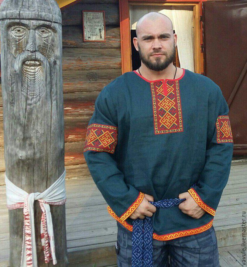 Вышивки мужских славянских рубах