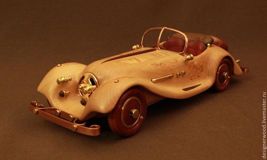 """Автомобильные ручной работы. Ярмарка Мастеров - ручная работа. Купить Родстер """"Джаз"""". Handmade. Джаз, автомобиль из дерева, металл"""