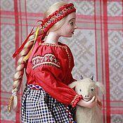 """Куклы и игрушки ручной работы. Ярмарка Мастеров - ручная работа Авторская кукла  """"Аленушка и братец Иванушка"""". Handmade."""