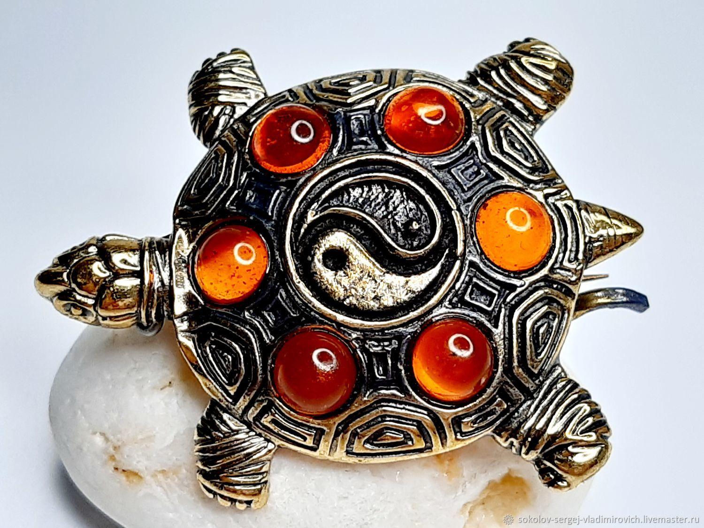 Yin-Yang Turtle Brooch, Brooches, Domodedovo,  Фото №1