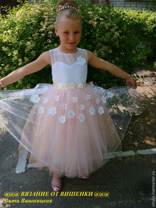 """Одежда для девочек, ручной работы. Ярмарка Мастеров - ручная работа. Купить Платье """"Принцесса цветов"""". Handmade. Белый, платье вязаное"""