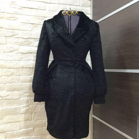 Верхняя одежда ручной работы. Ярмарка Мастеров - ручная работа. Купить Пальто из каракуля Тюльпан. Handmade. Пальто, драп