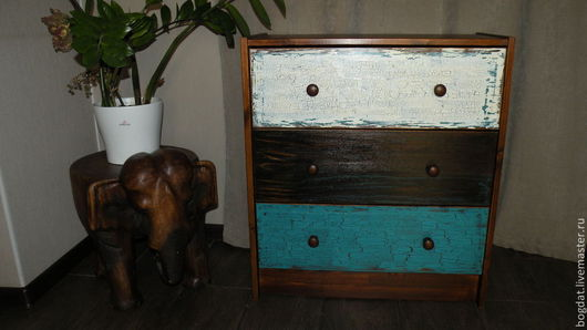 """Мебель ручной работы. Ярмарка Мастеров - ручная работа. Купить Комод """"Мой лофт"""". Handmade. Разноцветный, комод прованс"""
