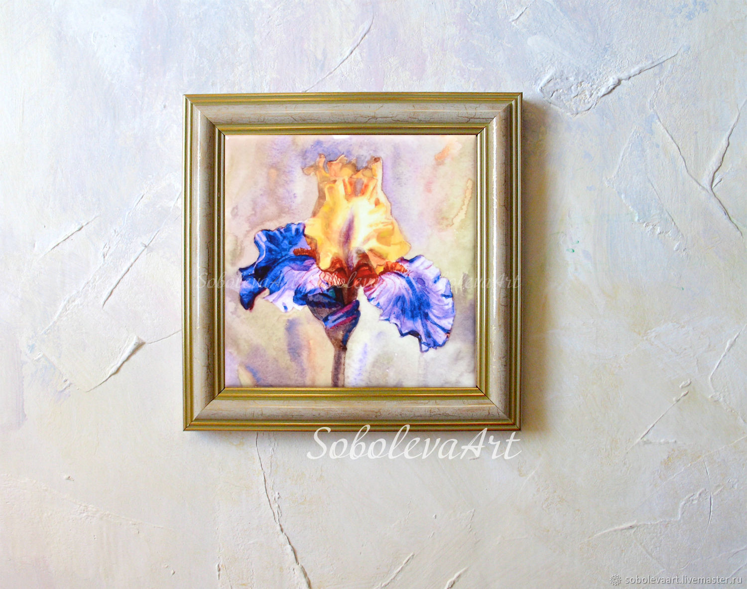 Picture of iris yellow blue painting with irises a painting with a painting flower paintings handmade picture of iris yellow blue painting with irises a painting with izmirmasajfo