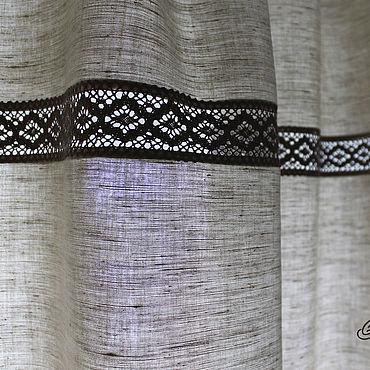 Текстиль ручной работы. Ярмарка Мастеров - ручная работа Льняные шторы. Handmade.
