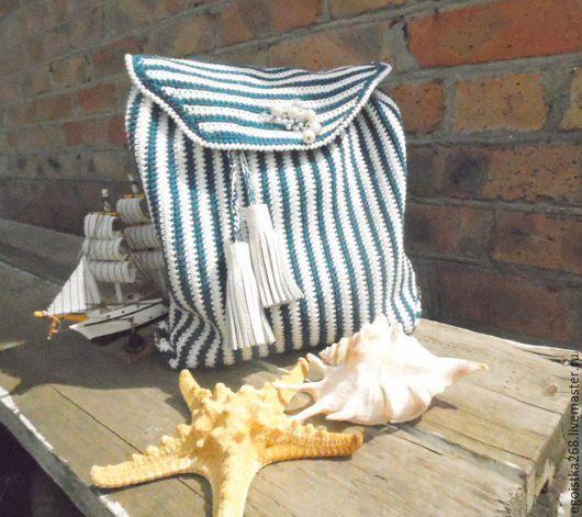 """Рюкзаки ручной работы. Ярмарка Мастеров - ручная работа. Купить рюкзак """"Круиз,день третий"""". Handmade. Тёмно-синий, липучка"""