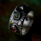 Украшения handmade. Livemaster - original item Ring silver natural stones. Silver ring with tourmalines. Handmade.