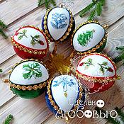 Сувениры и подарки handmade. Livemaster - original item Christmas balls with hand embroidery. Handmade.
